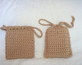 Set of 2 soap savers. Hand crocheted of cotton yarn. Choose Color.