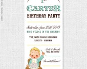 Vintage Babies First Birthday (Boy) - Custom Printable Invitation by Catherine Jane Joy