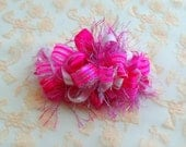 RESERVED Listing for shelze911: Pink Loopy Party Bow on a  French Barrette