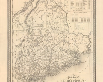 1848 Map of Maine