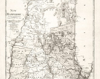 1796 Map of New Hampshire