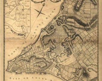 1766 Map of New York City