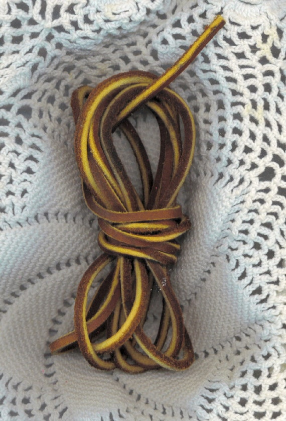 Leather Lace Dark BROWN 1 Yard Suede Lacing Strapping Cord
