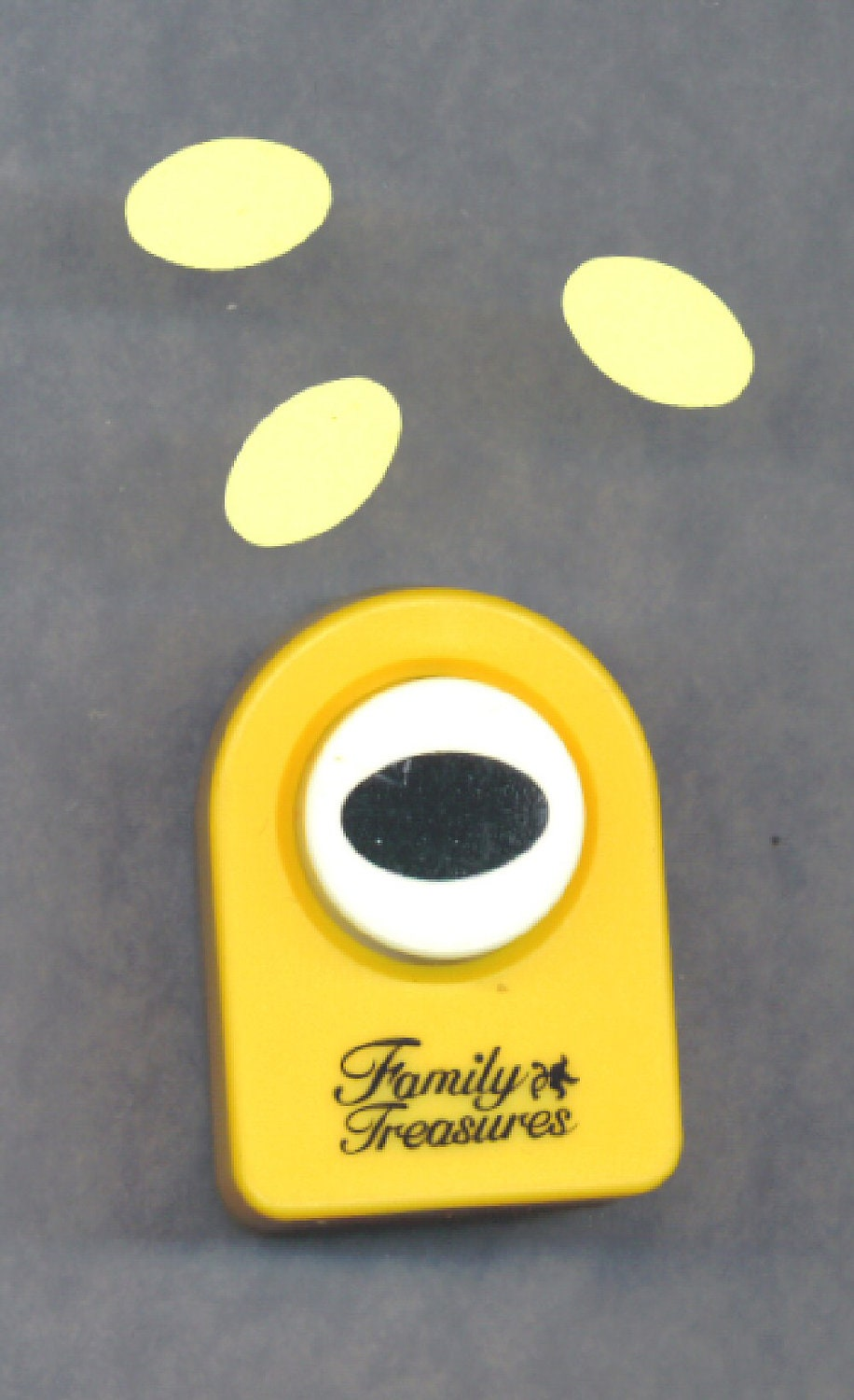 paper punch oval or egg shape scrapbooking half inch die cut