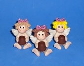Polymer Clay Naked Cupid with Chocolate(ONE)