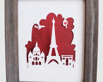 Paris, France.  Personalized Gift or Wedding Gift