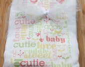 SALE Baby Girl Set of 2 Burp Cloths