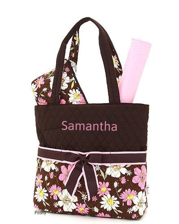 Personalized Diaper Bag in Floral 3PIECE