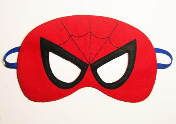Spiderman f hlte maske 2 jahre erwachsene gr e rot - Masque spiderman a imprimer ...