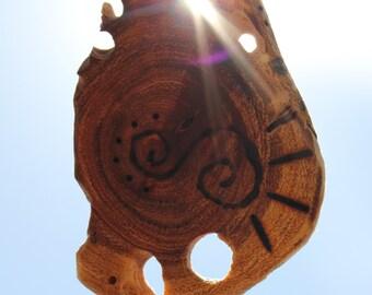 Custom Talisman Wooden Earrings