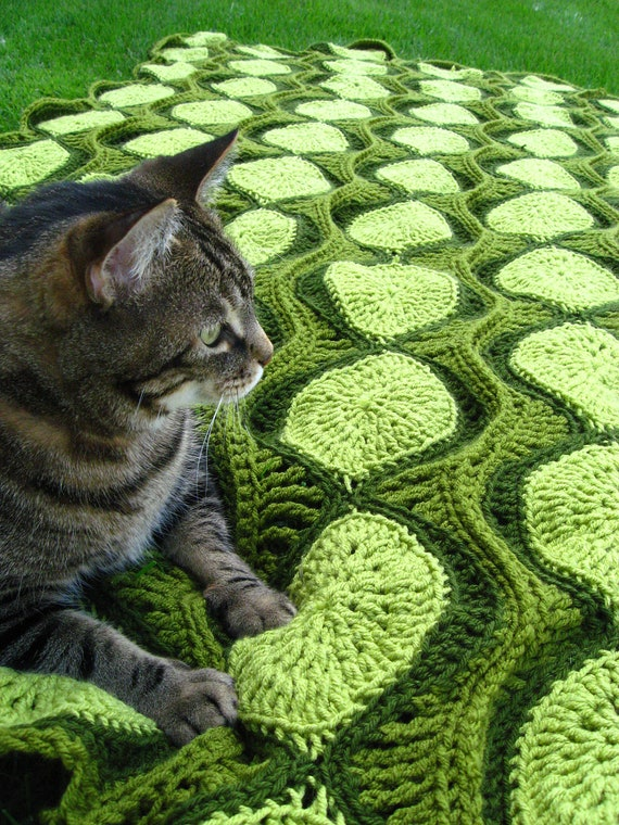 Crochet Pattern for Ebb and Flow Retro Afghan / Throw
