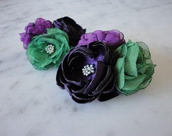Flower hair pins Purple hair flower Wedding hair flower Bridal accessories Flower headpiece Hair accessories Bridal Bridesmaids Flower girl