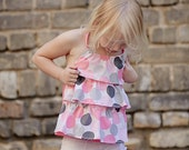 Ruffle top, Girls top, Halter top, Summer top, Children clothing, READY TO SHIP