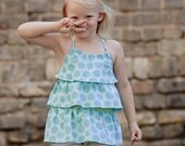 Ruffle top, Halter top, Girls top, Children clothing, READY TO SHIP