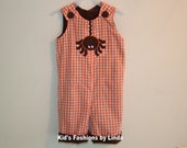 Reversible Halloween Spider/Thanksgiving Turkey Longalls-Personalization NOT included