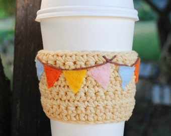 Coffee Cozy - Pumpkin Spice Coffee, latte, coffee sleeve, cup cozy, eco, flags, fall, cosy, reusable cozy, gifts for her, Christmas gift