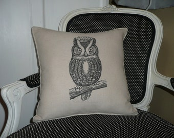 Hoot Owl Pillow Cover