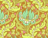 11000  Amy Butler Soul Blossoms collection - Temple Tulips in Cinnamon color - 1 yard