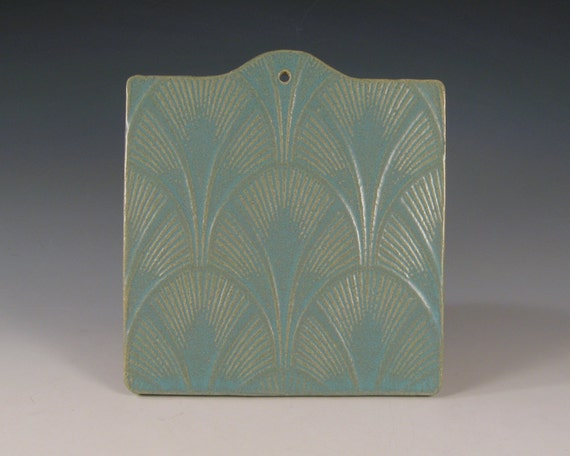 Architectural Tile Trivet wall - art deco design