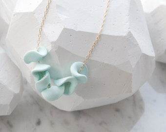 Hand Sculpted Petals Strung on Gold or Silver Chain and Custom Colours - Perfect Bridesmaids Necklaces
