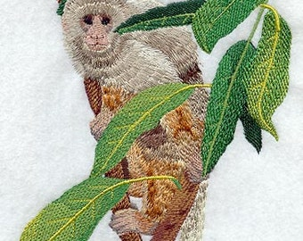 Capuchin Monkey Embroidered Flour Sack Hand/Dish Towel
