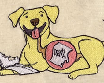 The Dog Ate My Homework Embroidered Flour Sack Hand/Dish Towel