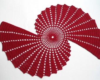 New crochet doily - runner /bordo doilies / table topper /home decor /table decoration / handmade