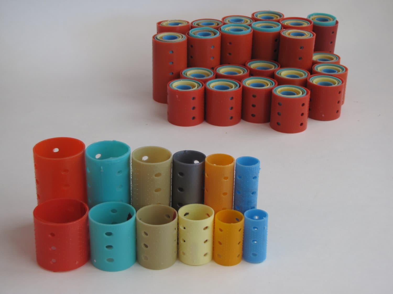 Vintage Plastic Hair Curlers Rollers Approx 144 Rollers