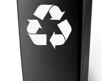 Recycle Decal Set of 2 -  Vinyl Decal for Laptop, Car