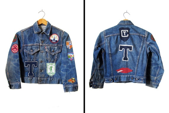 Vintage Levi's Denim Jacket Big E 1960s One of a Kind - Mens XXS / Womens XS / Youth Med