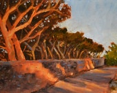 Original Landscape Painting, Early Morning 5x7 oil on panel - Daily Painting