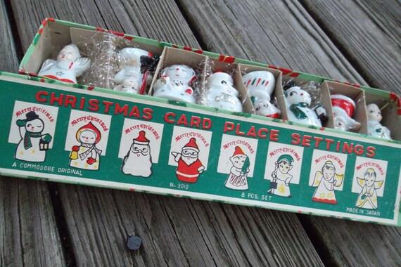 Christmas Place Card Setting, 1950's, original box