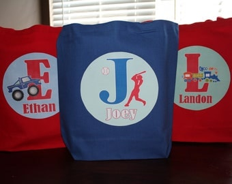 3 Large Personalized Tote Bags