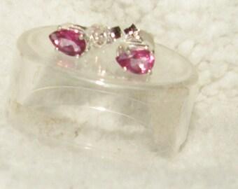 Pear Pink Topaz Earrings