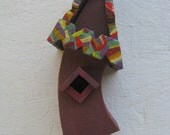 MultiColor Birdhouse with Curved Top Ready to Hang in any Home or Yard