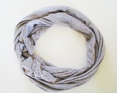 Gray chain patterned scarf-viscose summer shawl