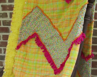 Bright Sunshine Rag Quilt