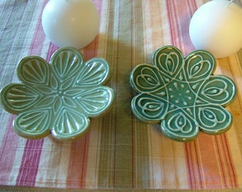 Small Flower Plate for Candle, Soap, Jewelry