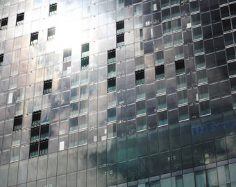 Hilton Hotel, Light reflection, Manchester, Modern Architecture, Urban UK, Fine Art Photography Print, Silver Home Decor, Urban Wall Art