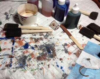 """Work Area Splatter Mat, 23"""" x 24"""", Plastic Back, Absorbent Front, 5-Pack"""