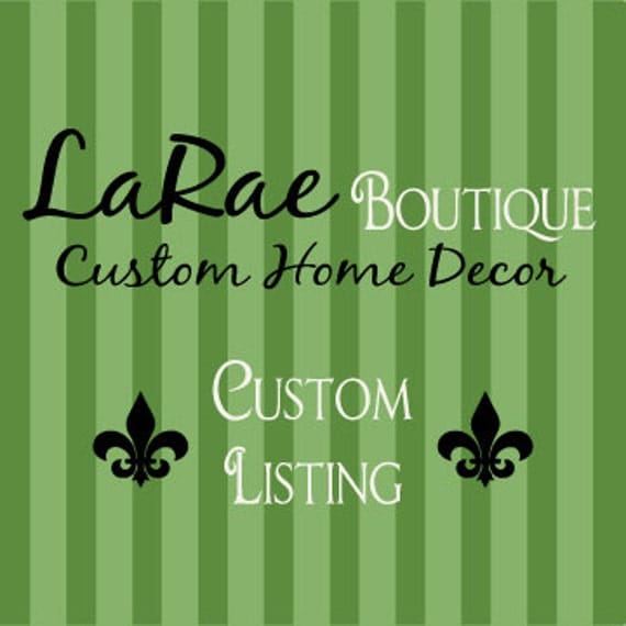 Custom Listing for Whitney
