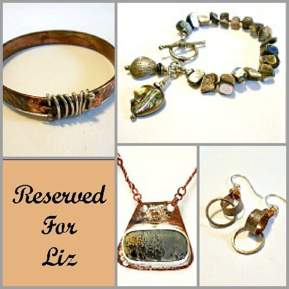 Reserved for Liz, Bracelets, Earrings, Pendant