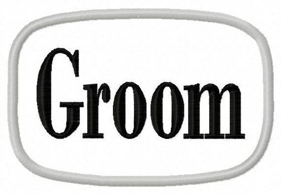 Groom - Applique Frame - Machine Embroidery Design - 12 Sizes