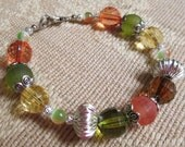Harvest Spice Fall Cat's Eye Wired Bracelet