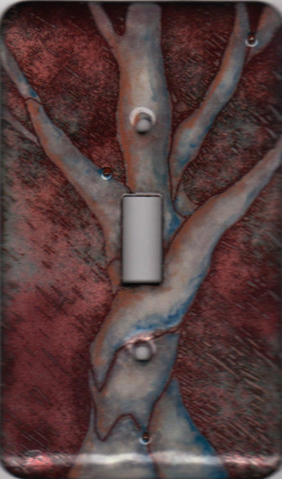 enamel copper light switch cover/tree single toggle