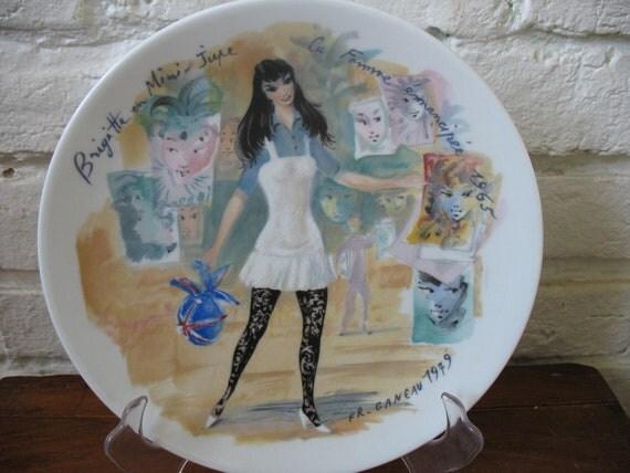 Vintage D'Areau-Limoges Collectors Plate