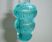 Mini Ornament - Jewel Color Series- Aquamarine with Clear Hook  : DISASTER RELIEF
