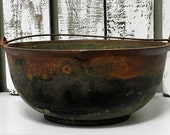 Vintage Iron Pot With Rusted Patina