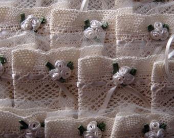 Favors, Wedding favor bags, A set of 50 token bags, Jordan Almonds bags