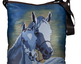 Horses Large Bucket Handbag by Salvador Kitti  - From my Original Oil Painting, A Mother's Love